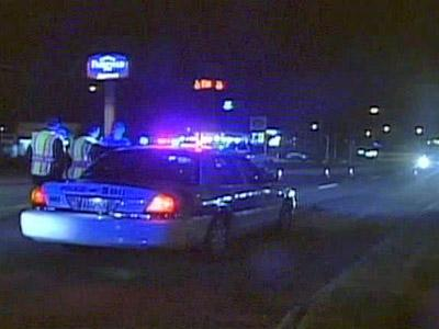 Police were at the scene, 1936 Cedar Creek Road, where a pedestrian was killed after being hit by an SUV on Nov. 1, 2008.