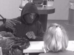 Surveillance video from a SunTrust bank robbery in Oxford.