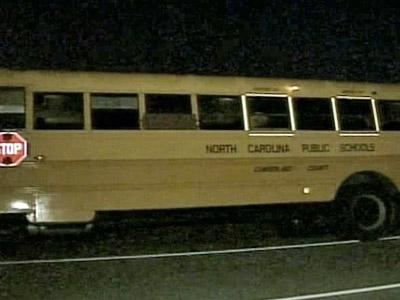 One of two school buses in Fayetteville that was shot at with a pellet gun on Nov. 5, 2008.
