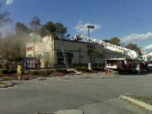 A fire broke out at the Kentucky Fried Chicken restaurant at 3928 Western Blvd., near Kent Road, Sunday, Nov. 9, 2008.