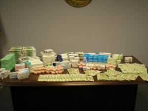 North Carolina Alcohol Law Enforcement agents seized $21,000 of illegal, imported prescription medications, including  penicillin, amoxicillin, birth control and pain relievers. Fawaz Mustafa Jobeh, of Sugar Hill, Ga., is accused of smuggling the medications from South America to California and then distributing them to at least 25 Hispanic stores in North Carolina, including some in Raleigh
