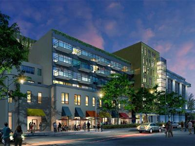 Concept rendering of E. Parrish Street mixed use development