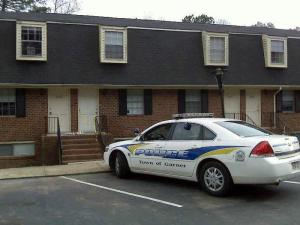 Garner police investigate the death of a 19-month-old child at 1852 Spring Drive on Nov. 17, 2008.