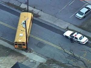 A school bus driver hit a pole in Durham Tuesday morning. It happened near the intersection of Cleveland Street and Gray Avenue.