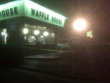 Raleigh police arrested a man early Thursday after he crashed into this Waffle House at 2624 Westinghouse Blvd.