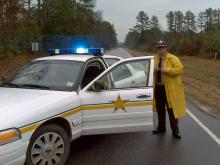 State troopers and Warren County sheriff's deputies blocked Martin Luther King Boulevard/S.R. 1001 after a shoot-out, just outside Warrenton, shortly after noon Friday, Jan. 2, 2009.