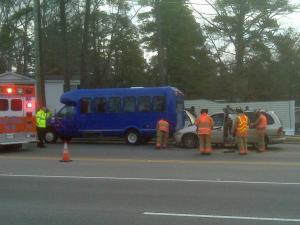 This crash happened around 8 a.m. Thursday on Maynard Road near Tate Street.