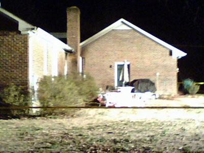 The scene of a residential fire in the 200 block of Axum Road in Willow Spring on Jan. 31. 2009.