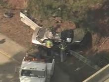 Wrecked stolen car ties up U.S. 70