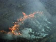 Sky 5: Wildfires in Johnston, Lee counties