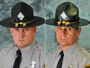 Trooper Fred Demuth (left) and Trooper Leonard McLeod