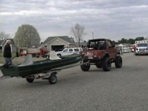 Volunteers searched by land and water Tuesday afternoon for a missing 6-year-old girl near the Little River.