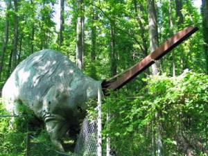 Brontosaurus was vandalized early Monday, Museum of Life and Science officials said.