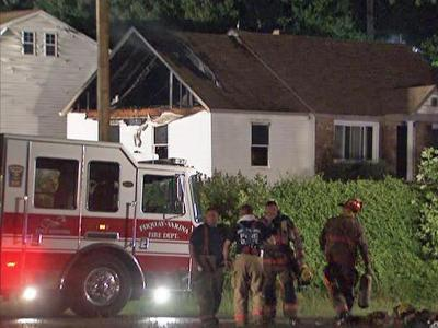 Flames tore through a vacant Wake County house late Thursday that was under construction.