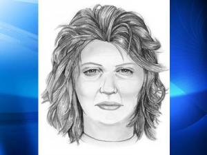 Police released this composite sketch of a woman wanted for questioning after a newborn was left on the porch of a residence at Fort Bragg on July 9, 2009.