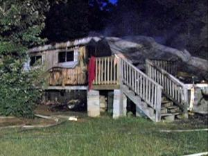 Investigators believe that a fire that destroyed a mobile home, at 500 Foster Road in Epsom, early Saturday might have been intentionally set.