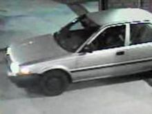 A surveillance video caught this image of a car outside Food Lion on Weaver Dairy Road.