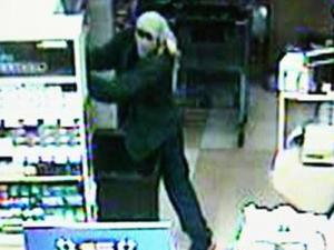 A surveillance image of the suspect inside the Food Lion on Weaver Dairy Road.