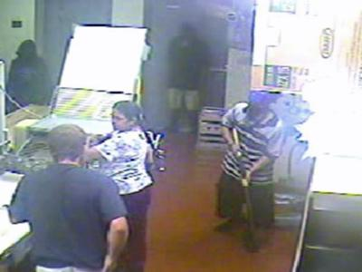 Cumberland County sheriff's deputies released this photo taken Sunday from surveillance video at the Donut Connection, 104 S. Bragg Blvd.