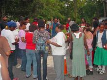 Sanford residents held a candelight vigil Thursday, Aug. 6, 2009, on the street where Shamika Nikkia Lett, 17, was fatally shot in the head a day earlier. (Viewer-submitted photo)
