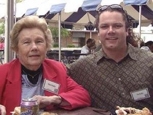 Mildred Bradley often attended Capitol Broadcasting company picnics with her son, Tim, after her retirement.