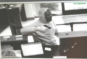 The suspect in a Granville County bank robbery is seen in this image from surveillance video.