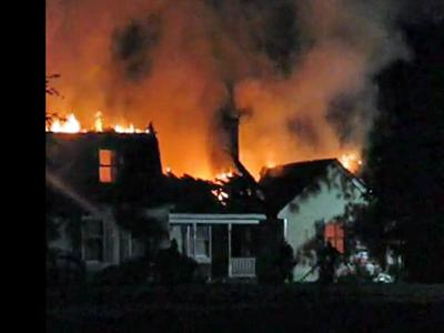 Image taken from video of a house fire Friday night at 12390 old U.S. Highway 125 in Scotland Neck.