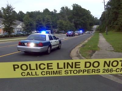 Authorities were on the scene of a shooting at the intersection of Big Oak Street and Fox Hollow Drive in Raleigh on Sept. 17, 2009.