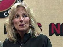 Jill Biden visits with military families