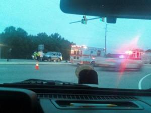 Two people were transported to a nearby hospital after a wreck at N.C. Highway 42 and U.S. 70 Business on Oct. 15, 2009.
