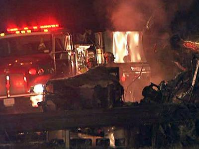 Crews were on the scene of a wreck on Interstate 95 northeast of Fayetteville on Oct. 19, 2009.