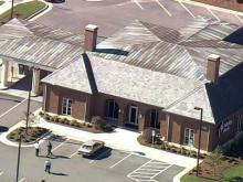 Sky 5 coverage of shooting near Garner bank