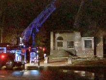 Authorities are investigating what caused fires at two vacant houses an eighth of a mile apart on Rivercliff Road n the Rivercliff subdivision, off Ramsey Street, in northeastern Fayetteville early Monday, Nov. 2, 2009.