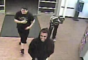 Surveillance video shows men wanted for car break-ins in Greenville and Wilson.