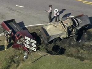 Three vehicles were involved in a wreck at N.C. highways 55 and 242 in Dunn Friday, Nov. 20, 2009.