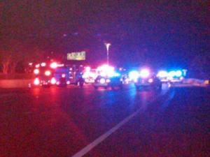 Police were on the scene of a multi-vehicle wreck on I-440 west at Glenwood Avenue in Raleigh on Nov. 27, 2009. (Photo by Andrew Cumbee)