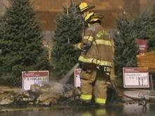 Bags of charcoal catch fire at Home Depot