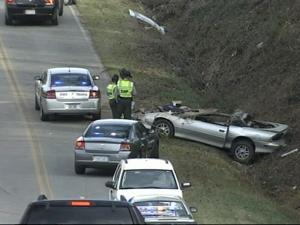 Two students from East Wake High School were in a serious one-car wreck Monday, Dec. 7, 2009, troopers said.