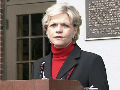 Gov. Beverly Perdue, during a visit to Camp Lejeune on Dec. 14, 2009, urged civilians to do more to help military families.