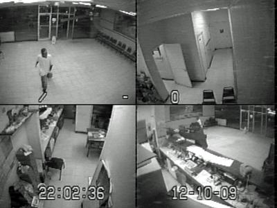 A surveillance image from the New China Restaurant, 430 W. Thomas St. in Rocky Mount, during a robbery on Dec. 10, 2009.