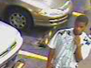 Raleigh police released this surveillance photo Wednesday of a person suspected of stealing a fuel card from a truck in the 800 block of Semart Drive on Oct. 9.