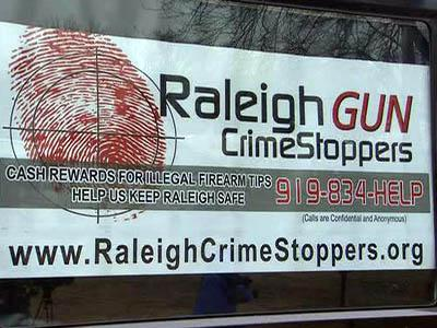 The Raleigh Gun Crime Stoppers program pays people up to $200 for anonymous tips that lead to an arrest and the confiscation of illegal weapons.