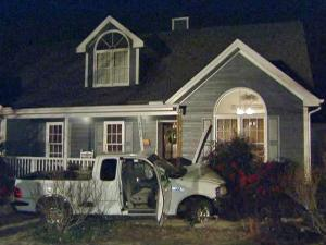State troopers said Patricia McRae will be charged with drunken driving after her pickup truck hit a house on Forty Niners Road the night of Friday, Jan. 8, 2010.
