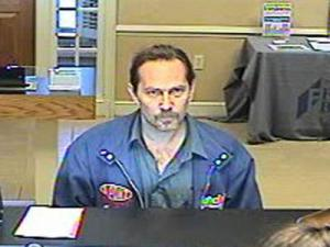 A surveillance image from the robbery of the Fidelity Bank, 1305 N. Raleigh St. in Angier, on Jan. 13, 2010.