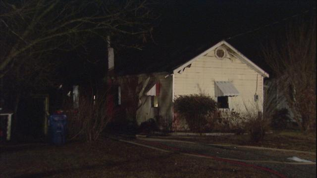 Two men injured in a house fire at 303 Godwin St. in Selma that started around midnight Sunday, Jan. 17, 2010.