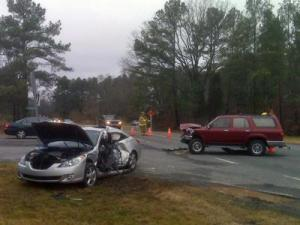 One person was killed in a two-vehicle wreck at the intersection of Whipporwill Lane and Old Farrington Road in Chapel Hill on Jan. 22, 2010.