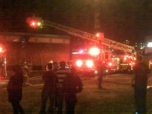 Crews were on the scene battling a fire at the El Cerro Mexican Restaurant in Raleigh on Jan. 25, 2010.