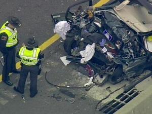 Emergency crews respond to a crash on I-85 South near Mebane Oaks Road in Mebane.