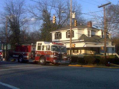 Firefighters respond to a house fire at 527 S. East St. in Raleigh on Feb. 25, 2010.