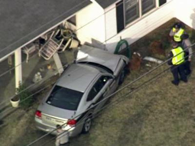 A state trooper lost control of his car and crashed into a Sampson County home on March 1, 2010, the Highway Patrol said